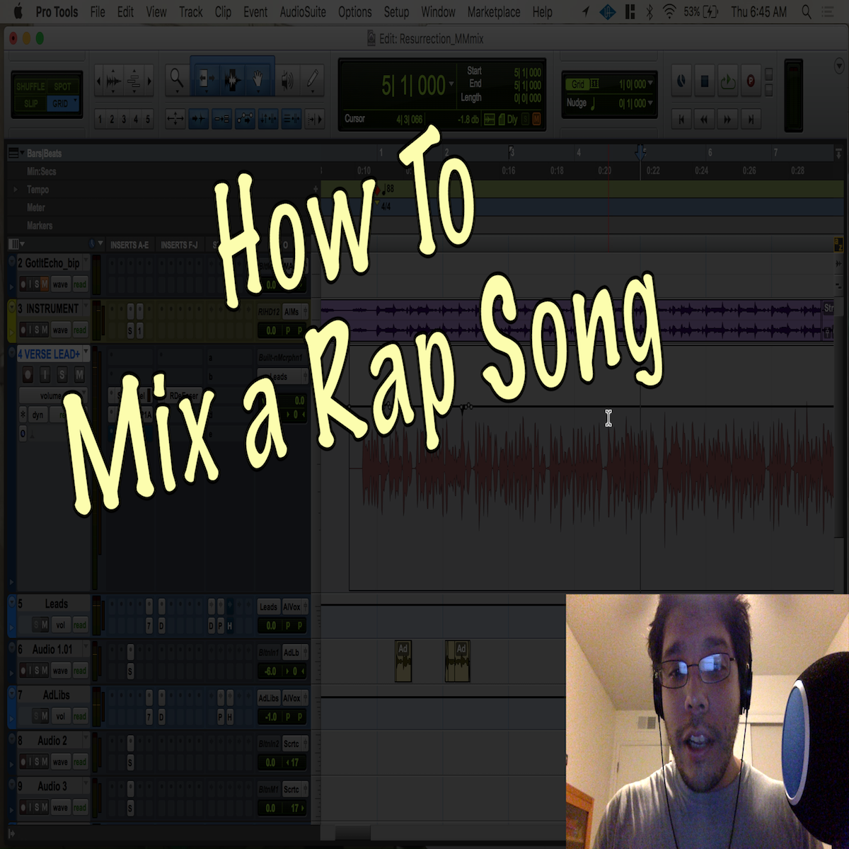 Mixing a Rap Song